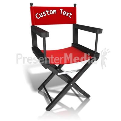 customized directors chair chaira custom movie presentation clipart great for presentations www presentermedia com
