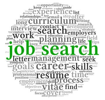 job search concept in word tag cloud - Employer Interview Tips Techniques Guide