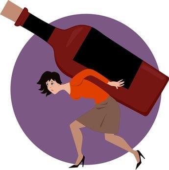 Woman Carrying Bottle