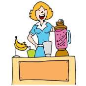Woman Making a Banana Smoothie