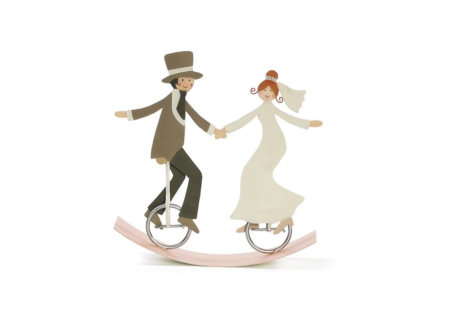 Brautpaar auf Einrad aus Blech Schaukel  wwwpresentisde