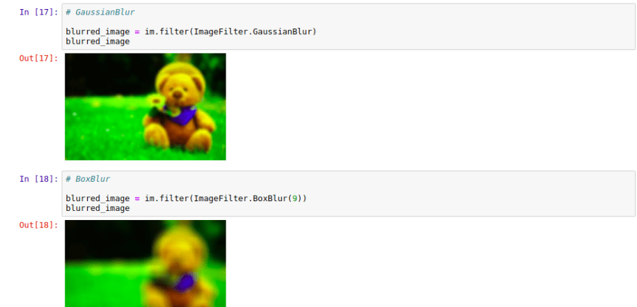 Blurring Images Using Pillow Library