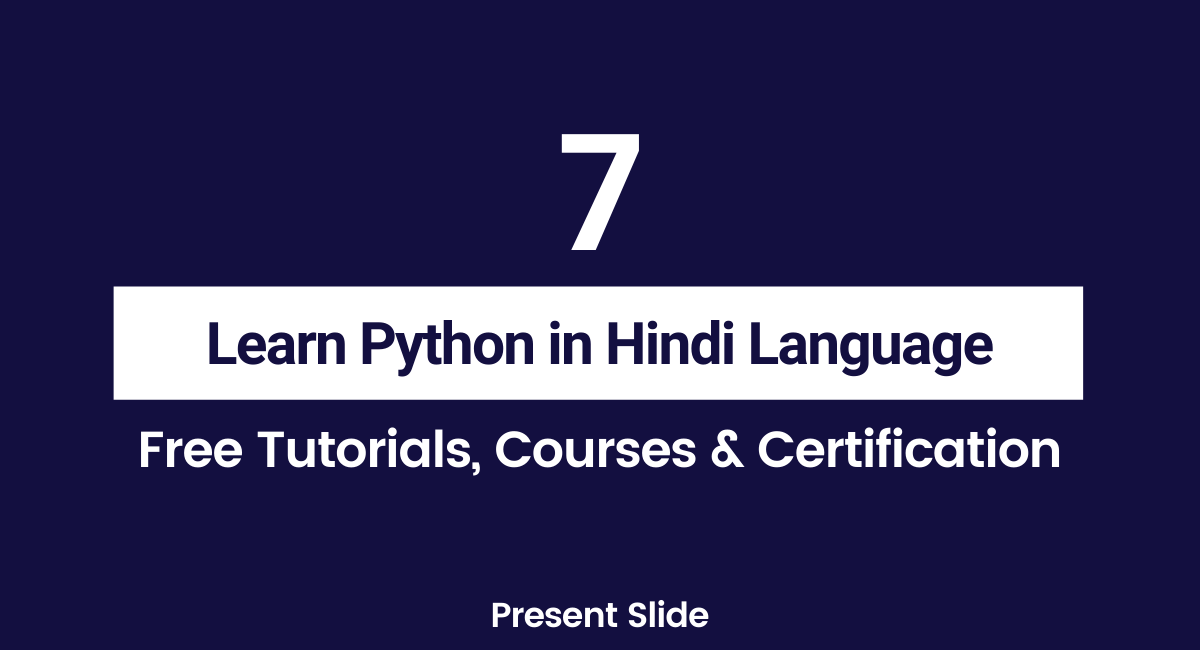 Python Tutorials in Hindi