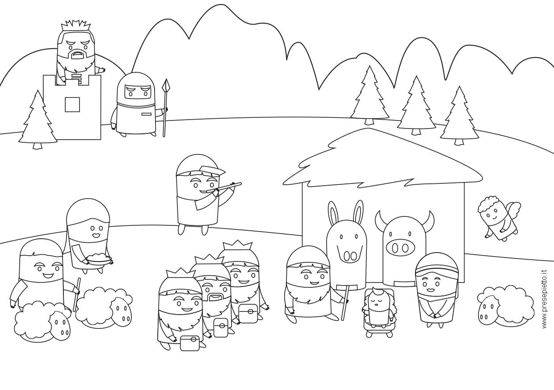 Disegno Paesaggio Betlemme