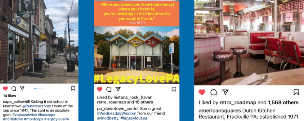 samples from social media illustrate the Legacy Love PA hashtag