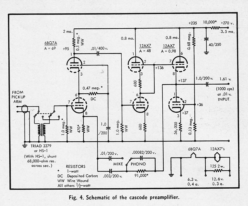 Microphone Tube Pre Schematic Furthermore Vacuum Tube