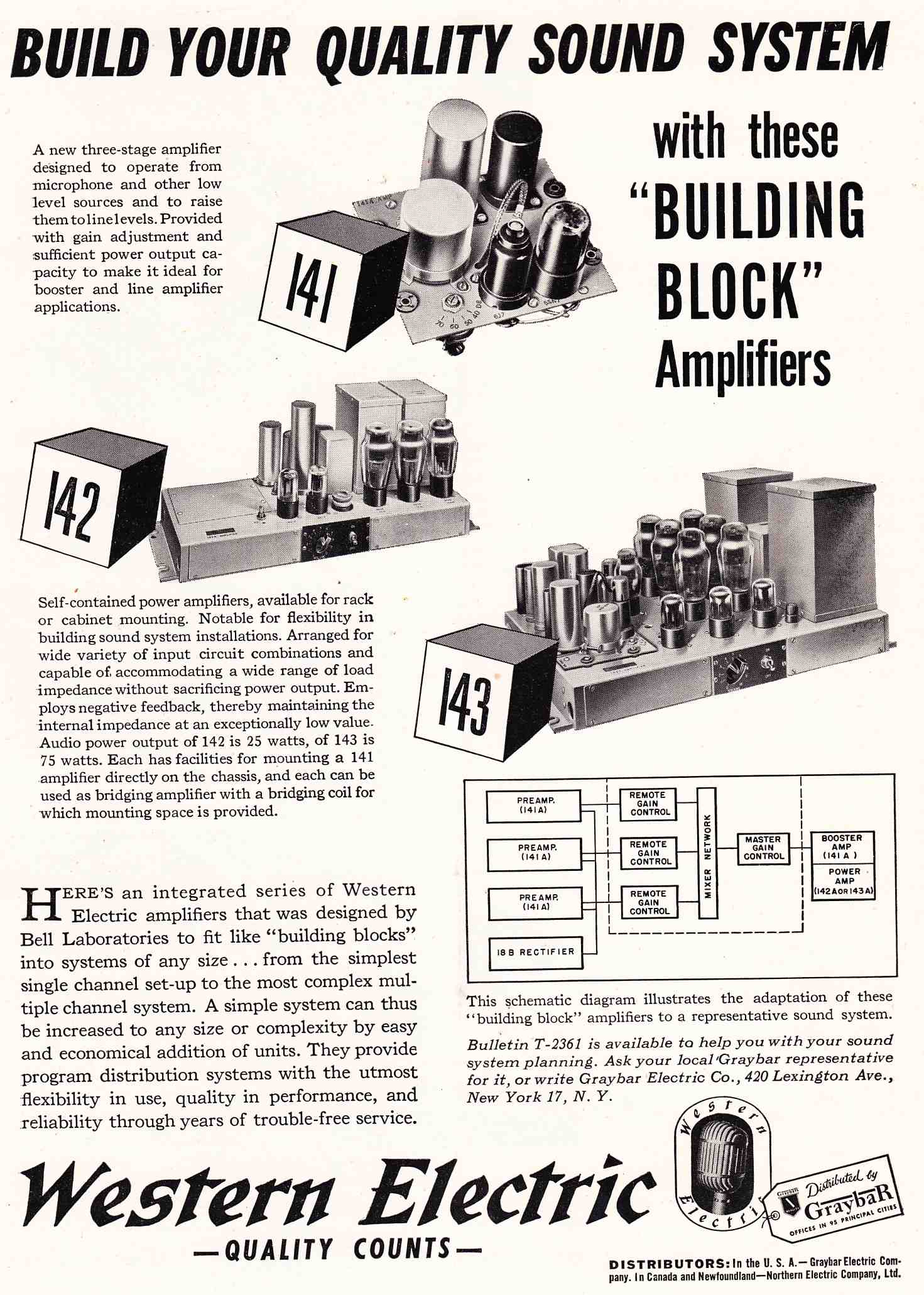 Western Electric In The Late 40s Audio Engineering Mag Pt