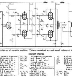 vacuum tube hi fi preservation sound the original williamson hi fi amplifier schematic as published in [ 1141 x 855 Pixel ]