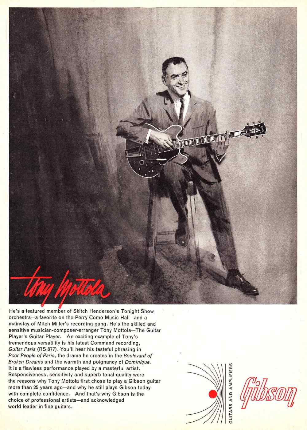 medium resolution of above tony mottola with a gibson