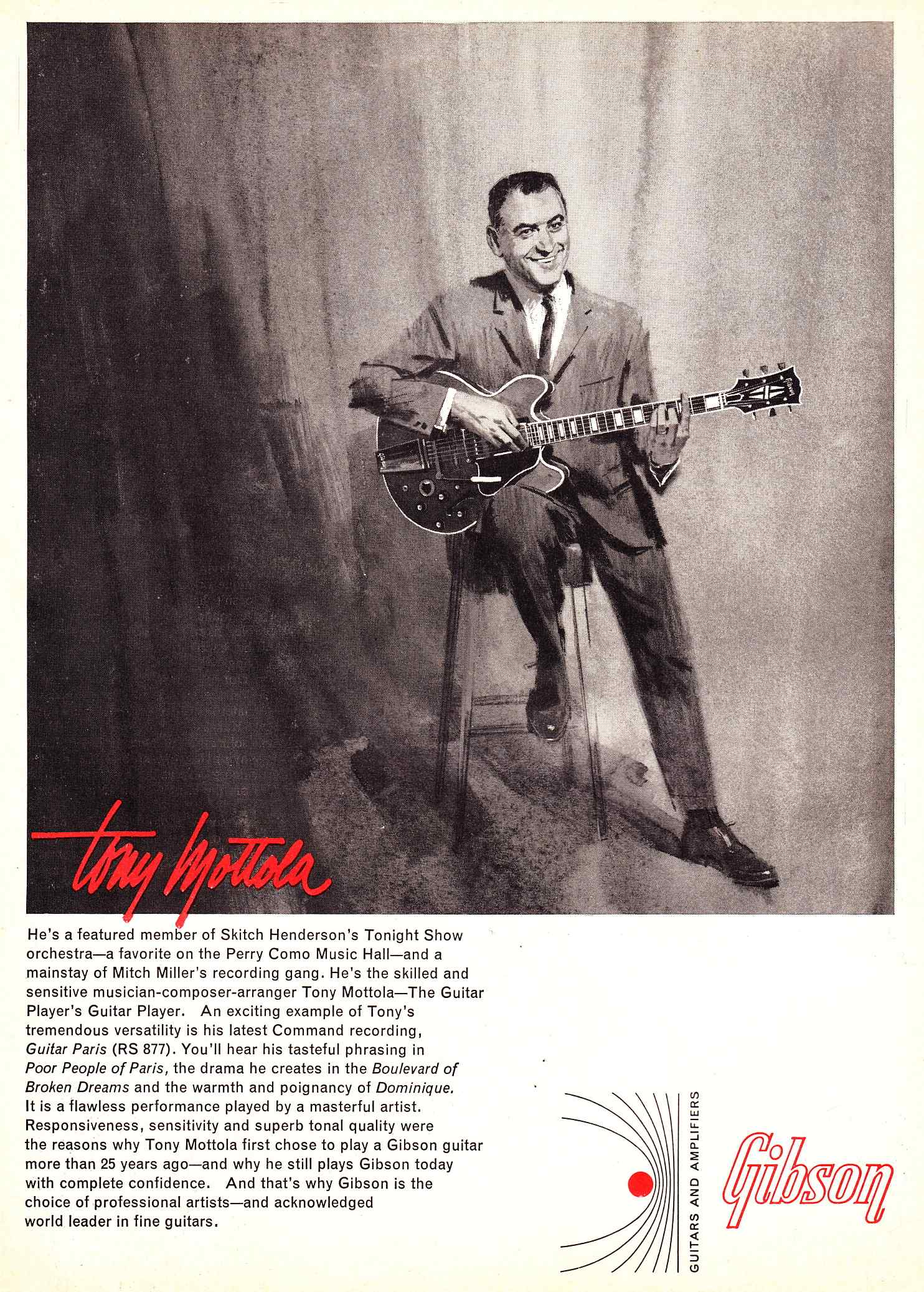 hight resolution of above tony mottola with a gibson