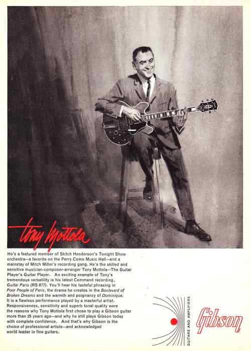 small resolution of above tony mottola with a gibson