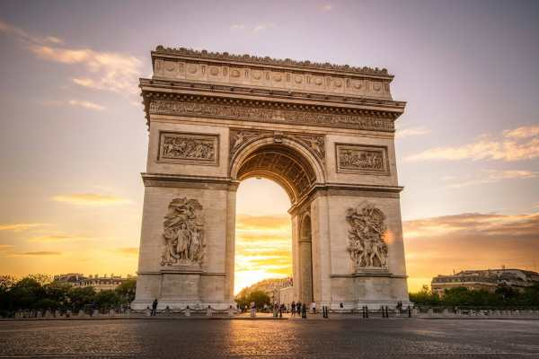 Hdr Arc De Triomphe Sunset