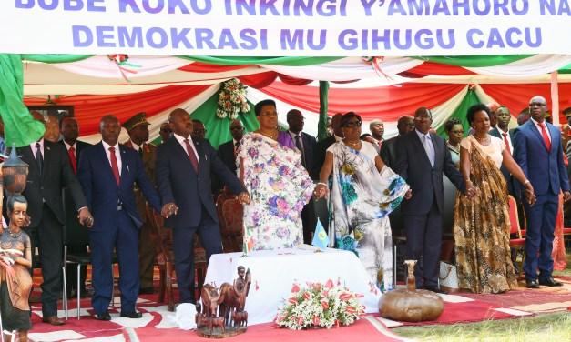Le Président de la République célèbre la fête de la charte de l'unité nationale à Gitega