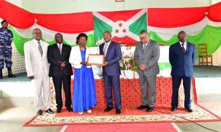 Les communes du Burundi avec plus de performances primées par le Chef de l'Etat