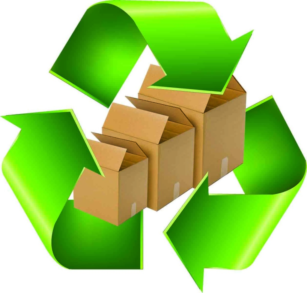 hight resolution of green recycle symbol