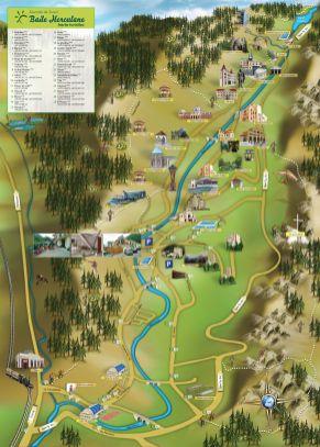 harta turistica herculane