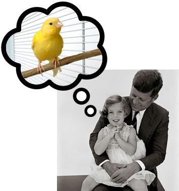 Robin, Caroline Kennedy's Pet Canary