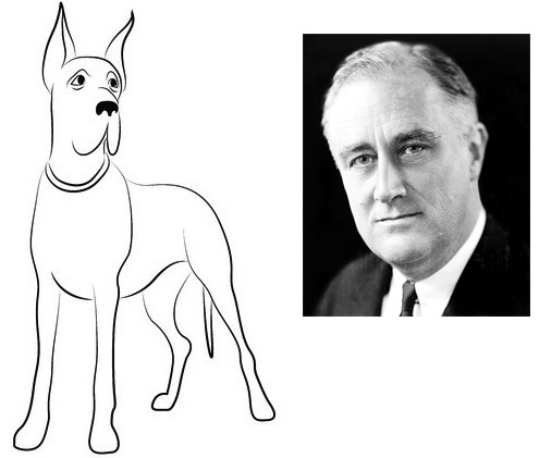 "Franklin Roosevelt and the Great Dane Named ""President"""