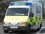 The man was taken by ambulance to Raigmore Hospital after the crash