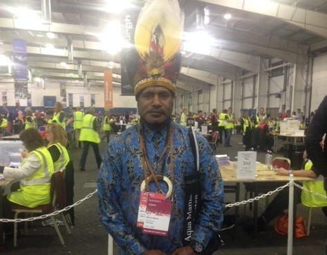 Benny Wenda from West Papua, Indonesia