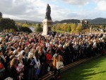 The massed choirs at Inverness Castle last year to mark the end of the Mod