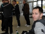 Bridegroom Mark Sanderson after his stag do  flight was cancelled at Inverness Airport