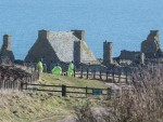 Search teams yesterday focused their efforts around Dunnottar Castle. The search is expected to resume this morning