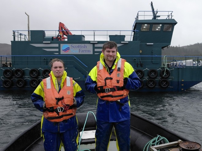 Fisher farmer takes helm of barge built in macduff press for Fish farming business
