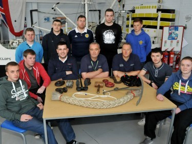 The CalMac trainees at the Marine Safety Training Centre, South Shields