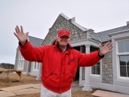 Donald Trump unveils his new clubhouse at the Menie Estate yesterday