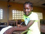 Mariama returns to school Liberia