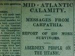 The Press and Journal's front page the Thursday after the Titanic disaster is the only piece of coverage that could have lead to the well-versed myth