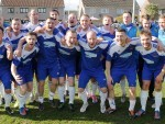 Cove celebrate their cup final victory