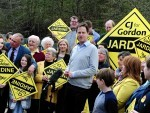 Deputy Prime Minister and Lib Dem Leader Nick Clegg in the Gordon constituency to campaign with Lib Dem candidate Christine Jardine, picture by Kami Thomson