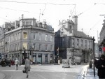 A montage of the images showing the changes to the street in years gone by