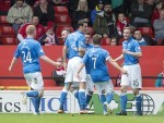 St Johnstone's Chris Kane celebrates scoring his winning goal