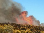 A deliberate fire was set on Kincorth Hill