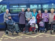 Photo caption: Chairman Noreen Harding and members of the Young at Heart Group, Portlethen with the new minibus.