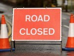 The A82 road is closed after an accident