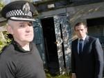 Insp Paul McCruden of Police Scotland and Councillor Douglas Ross