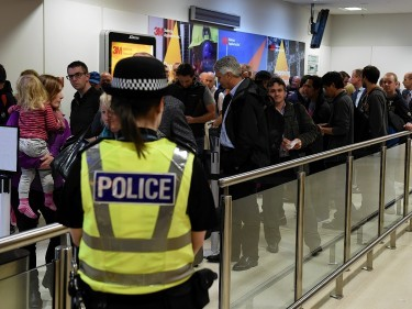 The departure lounge at Aberdeen International Airport was evacuated due to a security alert.  Picture by KENNY ELRICK     08/10/2015