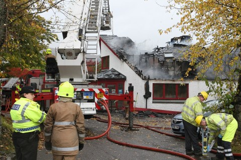 Fire at the Cill Chuimein medical centre in Fort Augustus.