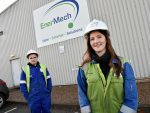 EnerMech apprentices Callum Innes and Katrina Innes. Picture by Colin Rennie