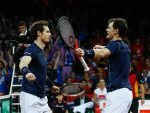 Andy and Jamie Murray inspired the British team to victory
