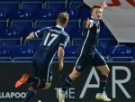 Ross County's Tony Dingwall celebrates scoring his side's second goal