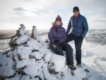 Gillian Fowler and Niall Craig at the Cairn O'Mount. Picture by Michal Wachucik