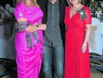 Midge Ure with Alison Todd and Lady Stephen