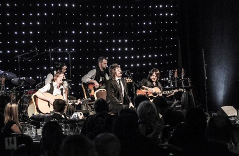 "Terry McDermott and the group premier ""This Time Tomorrow"". Photograph by Kelly smith"