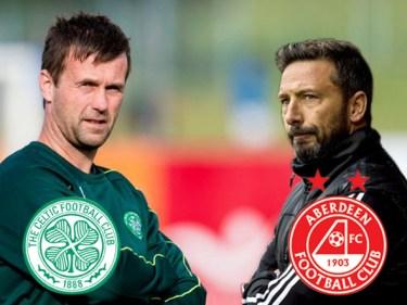 Showdown: Aberdeen take on Ronny Deila's side at Celtic Park on Sunday.