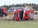 Five firefighters were taken to hospital